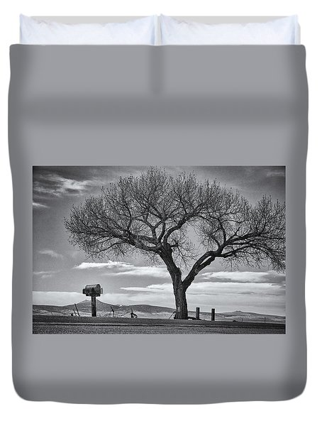 On The Road To Taos Duvet Cover