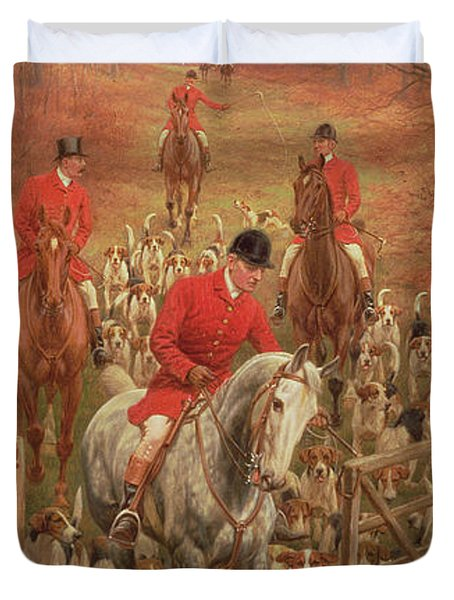 On The Scent, 1906 Duvet Cover