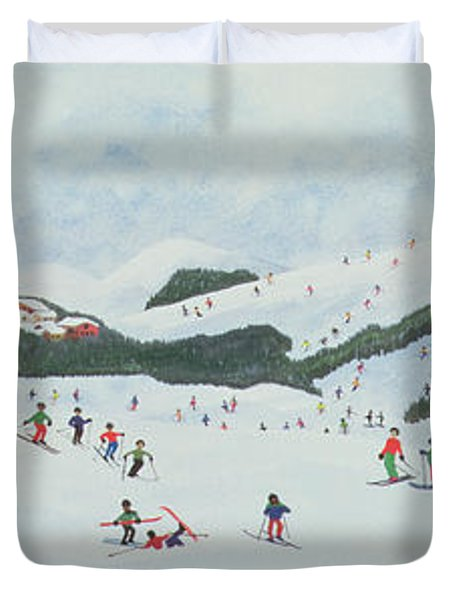 On The Slopes Duvet Cover by Judy Joel
