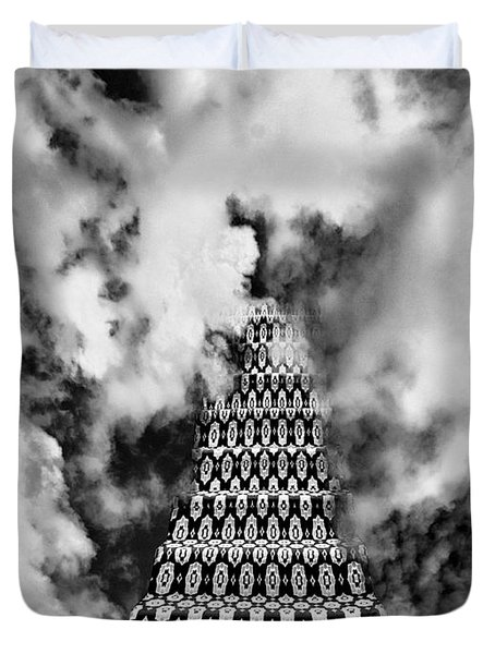 On The Stairway To Heaven Bw Palm Springs Duvet Cover by William Dey