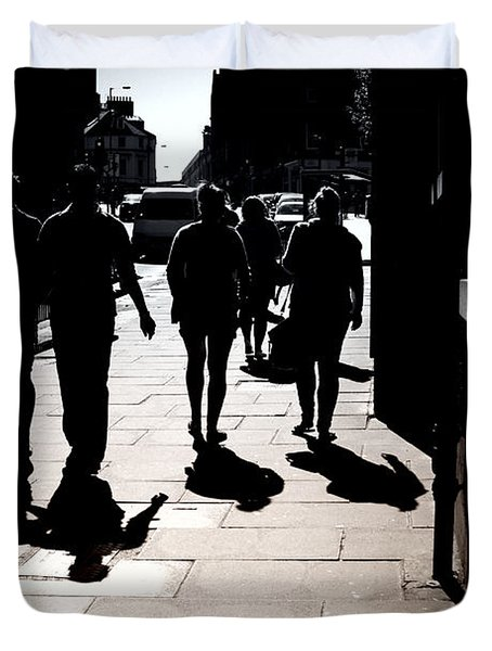 Duvet Cover featuring the photograph On The Street by Craig B