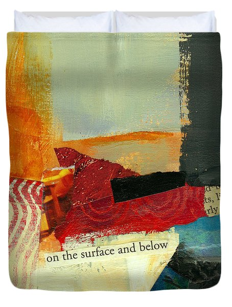 On The Surface And Below Duvet Cover by Jane Davies