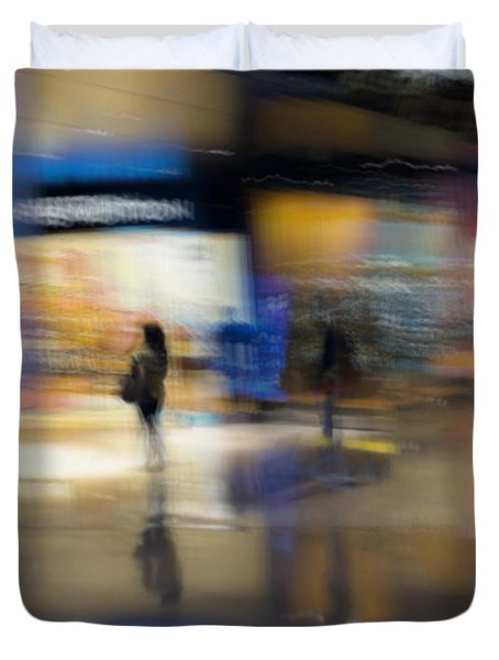 Duvet Cover featuring the photograph On The Threshold by Alex Lapidus