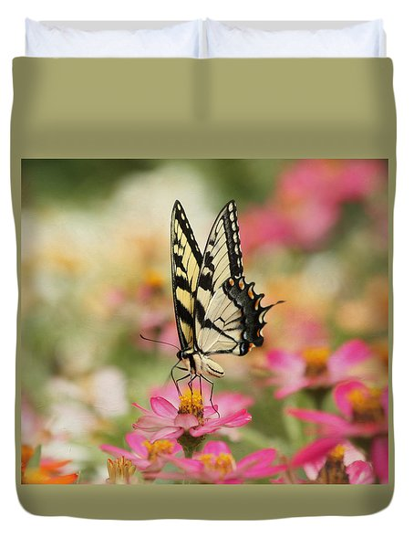 On The Top - Swallowtail Butterfly Duvet Cover by Kim Hojnacki