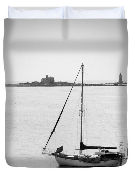 On The Water Duvet Cover by Mike McGlothlen