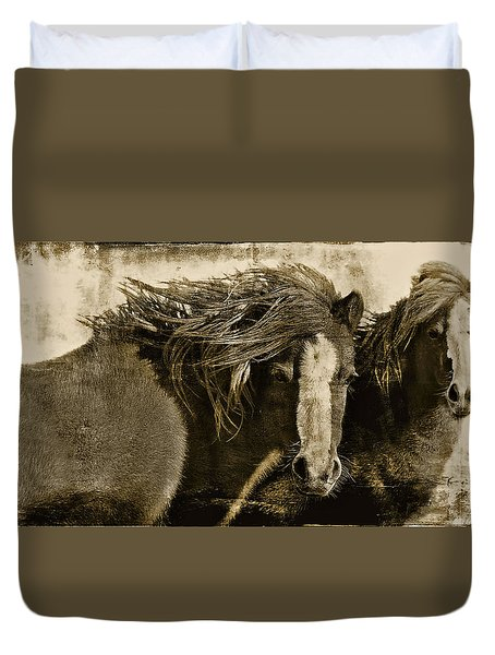 On The Winds Of Time Duvet Cover