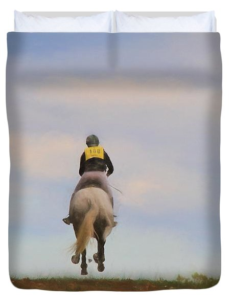 On To The Next Jump Duvet Cover