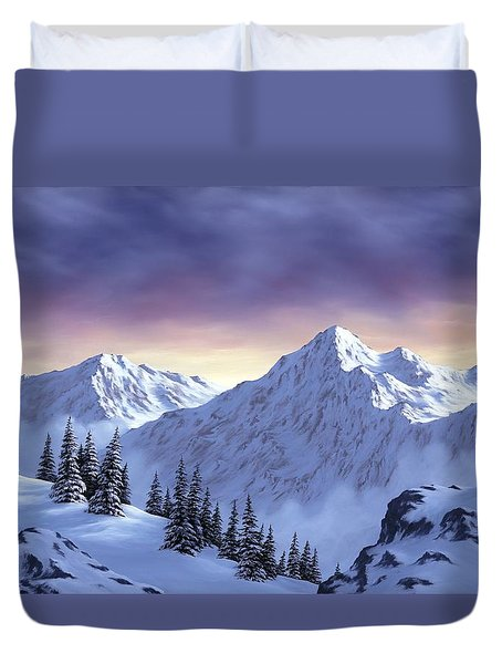 On Top Of The World Duvet Cover by Rick Bainbridge