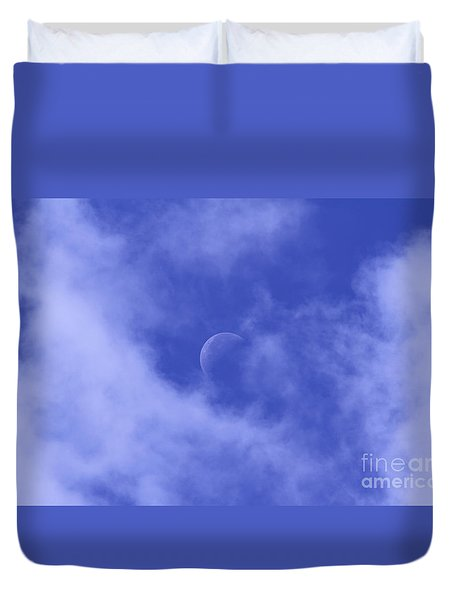 Duvet Cover featuring the photograph Once In A Blue Moon by Judy Whitton