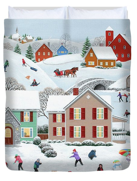 Once Upon A Winter Duvet Cover by Wilfrido Limvalencia