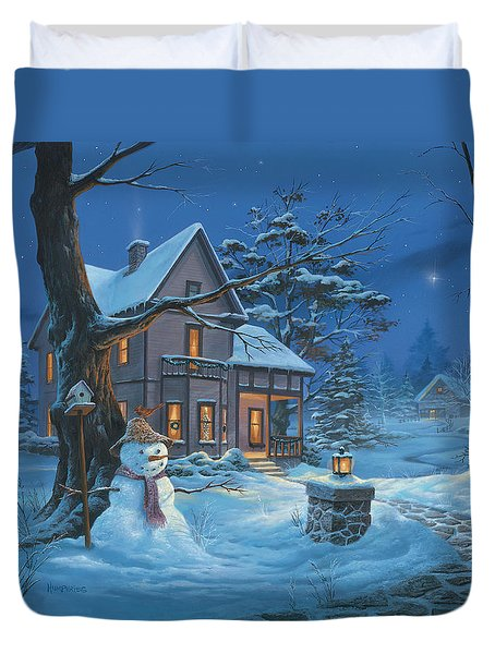 Once Upon A Winter's Night Duvet Cover