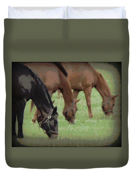 One Black Horse 1 Duvet Cover