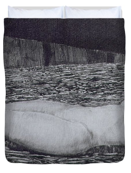 One Corpse Duvet Cover by August Bromse