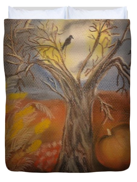 One Hallowed Eve Duvet Cover by Maria Urso