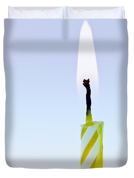 One Lit Candle Duvet Cover by Elena Elisseeva