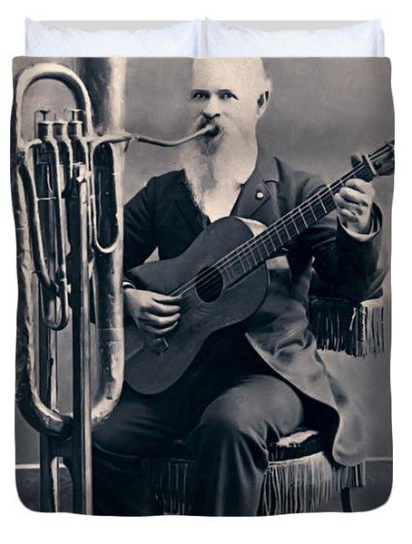One Man Band C. 1890 Duvet Cover