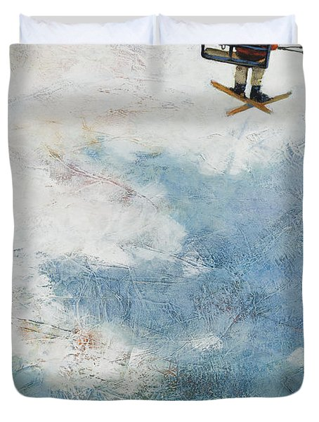 One More Run Duvet Cover by Jen Norton