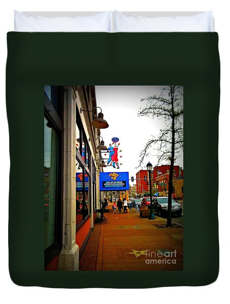 One Of Ten Great Streets Duvet Cover by Kelly Awad