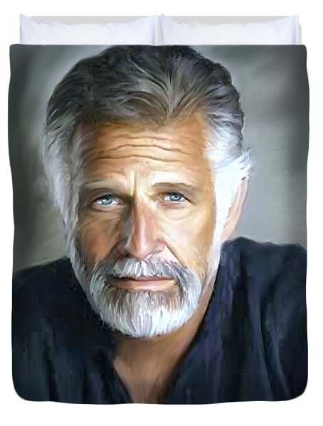 One Of The World's Most Interesting Man - In Oil Duvet Cover by Angela A Stanton
