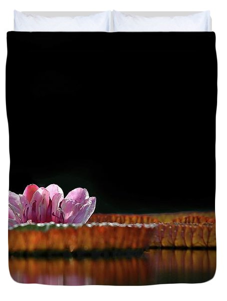 One Water Lily Duvet Cover by Sabrina L Ryan