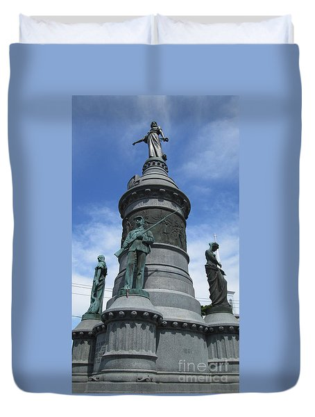 Oneida Square Civil War Monument Duvet Cover