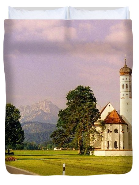 Onion Dome Church Duvet Cover by John Malone