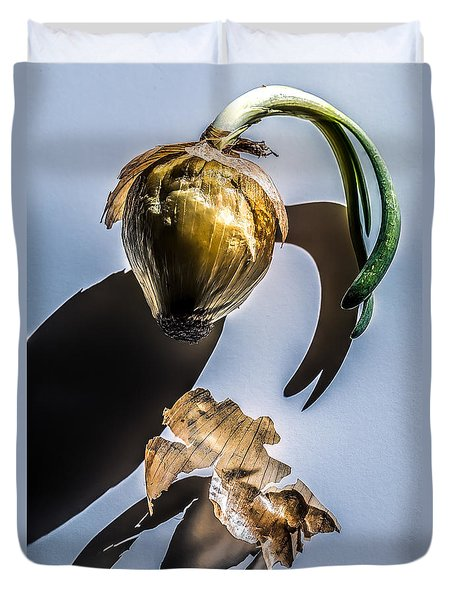 Onion Skin And Shadow Duvet Cover