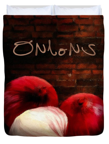 Onions II Duvet Cover by Lourry Legarde