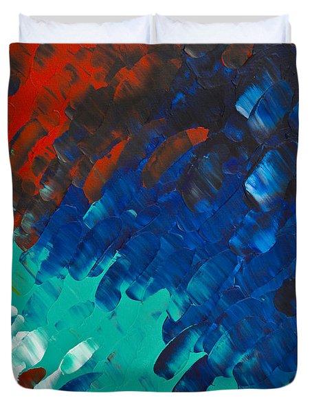Only Till Eternity 3rd Panel Duvet Cover by Sharon Cummings