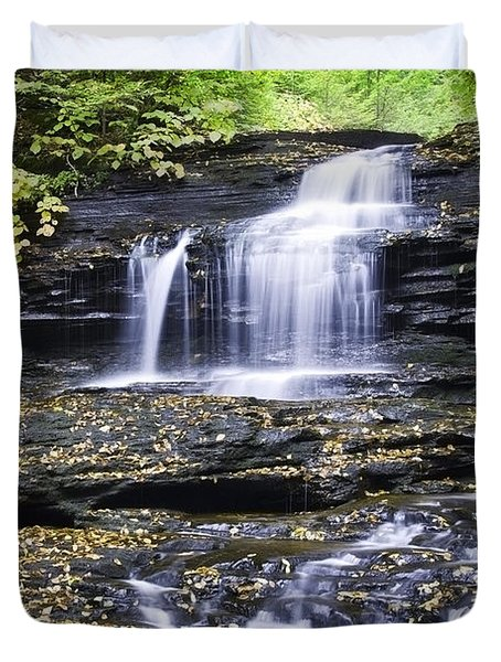 Onondaga Falls Duvet Cover