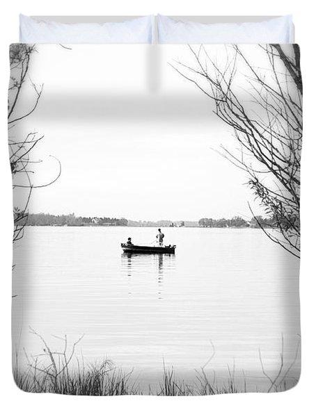 Ontario Fishing Trip Duvet Cover by Valentino Visentini