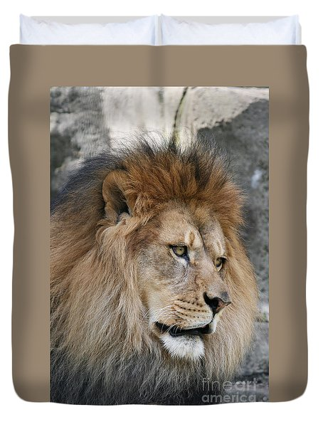 Duvet Cover featuring the photograph Onyo #4 by Judy Whitton