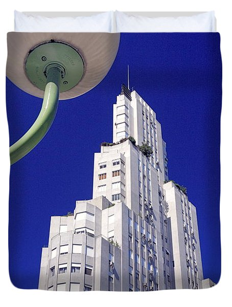 Duvet Cover featuring the photograph Onyric City by Bernardo Galmarini