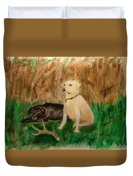 Onyx And Sarge Duvet Cover