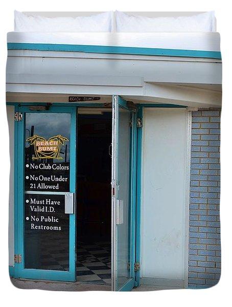 Open For Business Duvet Cover