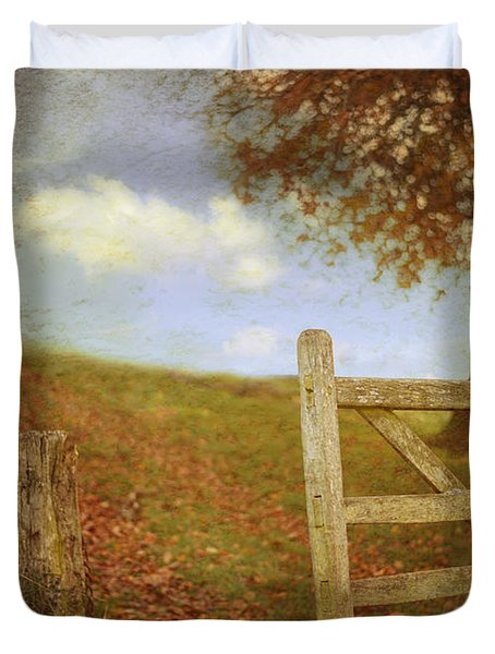 Open Country Gate Duvet Cover by Amanda Elwell