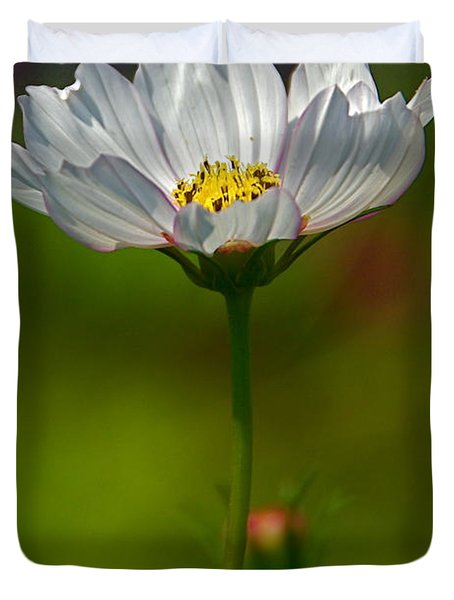 Duvet Cover featuring the photograph Open For All by Byron Varvarigos
