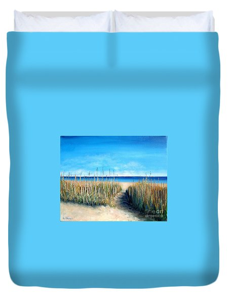 Pathway To Peace Duvet Cover