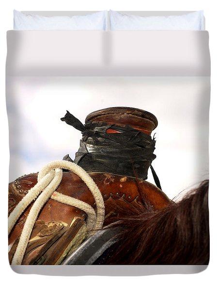Open Range Saddle Duvet Cover