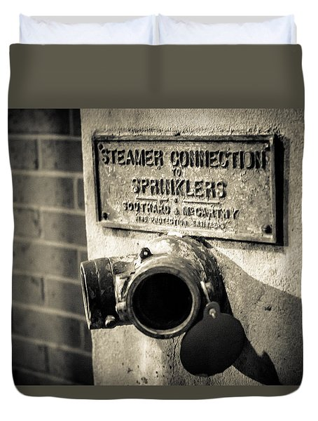 Open Sprinkler Duvet Cover by Melinda Ledsome