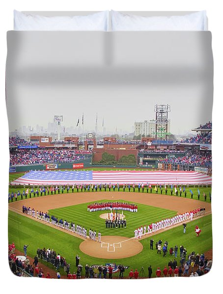 Opening Day Ceremonies Featuring Duvet Cover