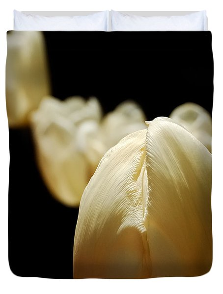 Opening Night - Tulips In The Spotlight Duvet Cover
