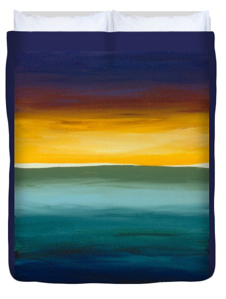 Opening On The Horizon Duvet Cover