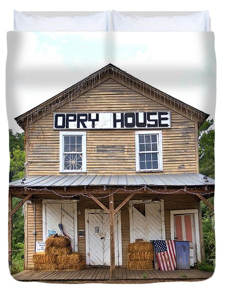 Duvet Cover featuring the photograph Opry House - Square by Gordon Elwell