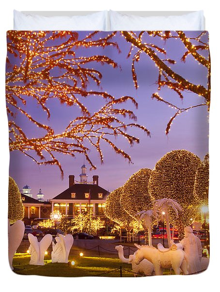 Opryland Hotel Christmas Duvet Cover by Brian Jannsen