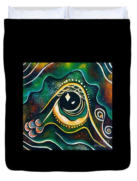 Optimist Spirit Eye Duvet Cover by Deborha Kerr