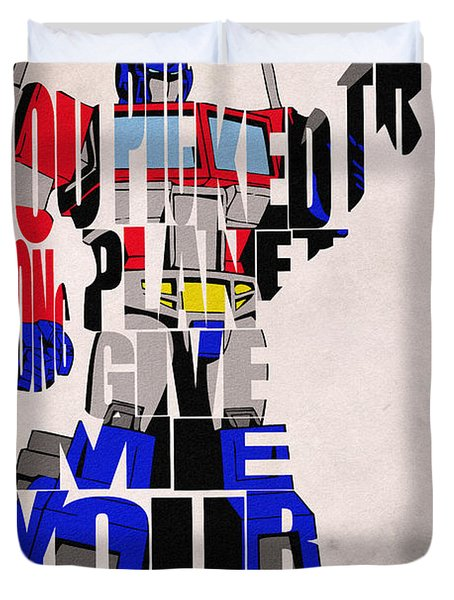 Optimus Prime Duvet Cover by Ayse and Deniz