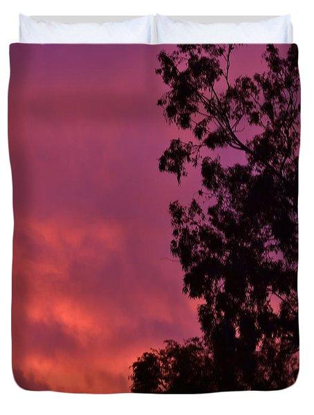 Orange And Purple Sky Duvet Cover