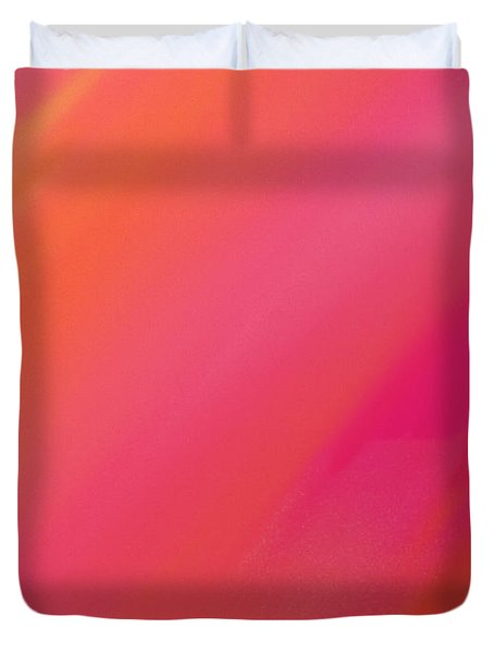 Orange And Raspberry Sorbet Abstract 1 Duvet Cover by Andee Design