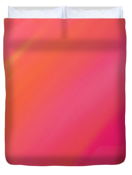 Orange And Raspberry Sorbet Abstract 2 Duvet Cover by Andee Design